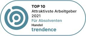 Top 10 Attraktivster Arbeitgeber 2021 für Absolventen Handel